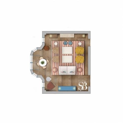 Private residence rendered floor plan